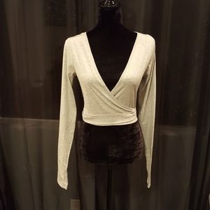 NWT- Wrap Knit Top